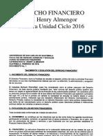 Derecho Financiero-Sección D Ciclo 2016-Lic. Henry Almengor