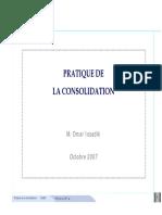 Pratique de La Consolidation (O. Issadik - IsCAE - Octobre 2007)