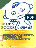 Observação Direta e Medida Do Comportamento - S J Hutt e Corinne Hutt, Tradução de Carolina Martuscelli Bori, 1974 (INDEX)