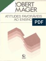 Atitudes Favoráveis Ao Ensino - MAGER, Robert F.
