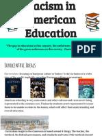 racism in american education