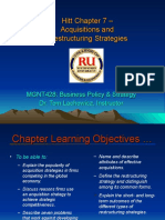 MGNT428 Ch07 Acquisitions & Restructuring Strategies - Lachowicz.ppt