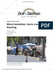 More Homeless, More Creative Housing