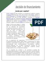 Capital y Decisión de Financiamiento