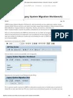 Uso de LSMW (Legacy System Migration Workbench)