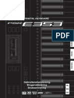 Yamaha PSR-E353 Handleiding