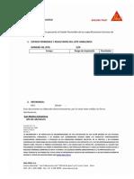 Certificado de Calidad Sika Antisol