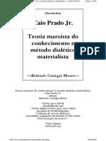 PRADO JR Teoria Marxista Do Conhecimento