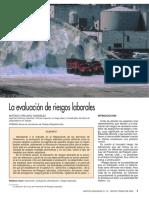 La Evaluacion de Riesgos - Antonio Cirujano