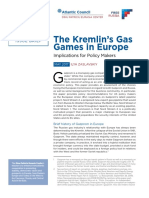 The Kremlin's Gas Games in Europe