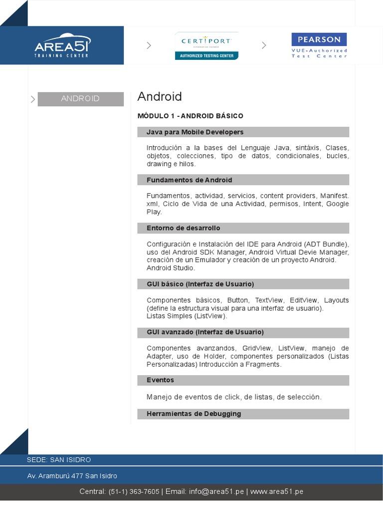 CurriculaAndroid_dic17 pdf
