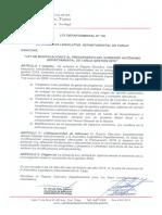 Ley Dptal. N° 126