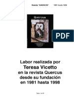 """Teresa Vicetto en la revista """"Quercus"""""""