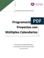 Programación de Proyectos Con Múltiples Calendarios