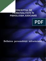 Concepul de Personalitate În Psihologia Judiciară