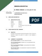 EJEMPLO DE Memoria Descriptiva Matusita Ubicacion