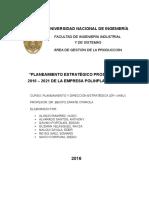 Planeamiento Estratégico Prospectivo de La Empresa Polinplast Sac - Grupo 4