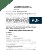 MODELO DE DEMANDA DE DISOLUCIÓN DE VÍNCULO MATRIMONIAL POR MÁS DE DOS AÑOS DE SEPARACIÓN.docx