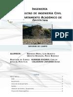 Informe de Campo Rocas