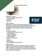 Quiche de Serralha e Radite