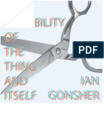 The Possiblity of the Thing and Itself - by Ian Gonsher