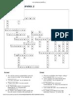 Crucigrama de Español 2 Clave