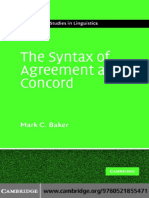 The Syntax of Agreement and Concord -  Mark C. Baker