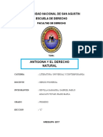 Antigona y El Derecho Natural- Jhade Aracayo, Pablo Revilla
