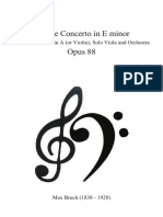 Bruch Concerto for Clarinet and Viola Full Score
