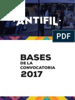 Bases de la convocatoria ANTIFIL 2017