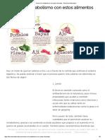 Acelera El Metabolismo Con Estos Alimentos - Barcelona Alternativa