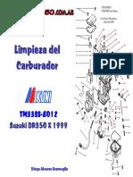Manual de Limpieza Del Carburador Suzuki DR 350