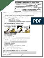 Prova 8 Ano de Portugues