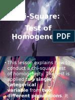 Statistics - Chi Square