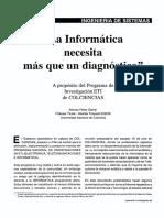 La Informatica Necesita Mas Que Un Diagnóstico