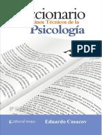 Diccionario de Términos Técnicos de La Psicología de Eduardo Cosacov