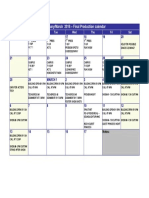 Final Production Calendar - ITW