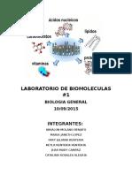 Laboratorio de Biomoleculas (Proceso y Resultados)