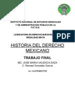 Historia del derecho Mexicano - Autoevaluación