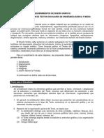 Requerimientos de Diseño Gráfico Para La Elaboración de Textos Escolares - 8 Pag
