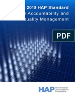 The 2010 Hap Standard in Accountability and Quality Management