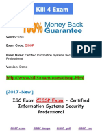 New Kill4exam ISC-CISSP Exam - Certified Information Systems Security Professional