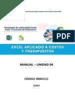 Manual Excel CP U4