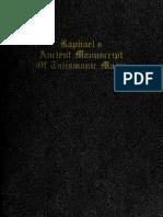 De Laurence, L.W. - Raphael_'s Ancient Manuscript of Talismanic Magic
