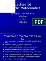 Lect16 Symbolic Mathematics