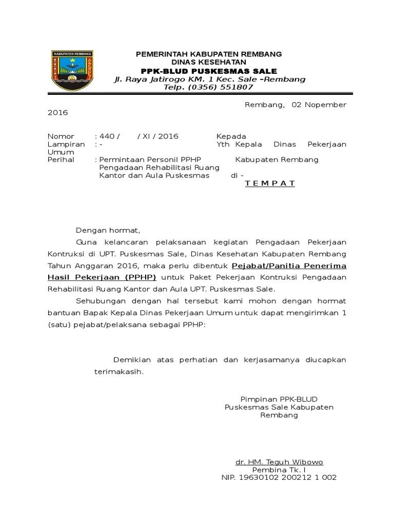 Contoh Surat Pphp Pu Doc