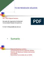03 Clase 4 Caracteristicas de Los Residuos Solidos. Sistemas de Gestion
