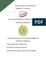 Diez Libros de Derecho Comercial