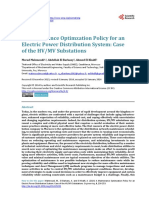 A Maintenance Optimzation Policy for an Electric Power Distribution System