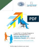 Iift Delhi Certificate Program in Business Management 0 30 Yrs